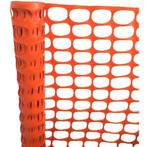 Expandable Orange Roadway Safety Fence