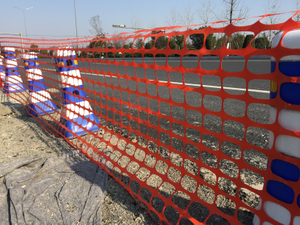 China Factory Cheap Price HDPE Plastic Safety Fence Road Barrier Mesh