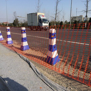 Removable Orange Roadway Safety Fence