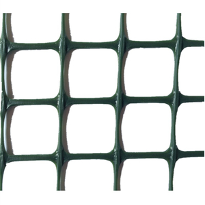 customized rigid weatherproof HDPE green plastic square mesh garden fence